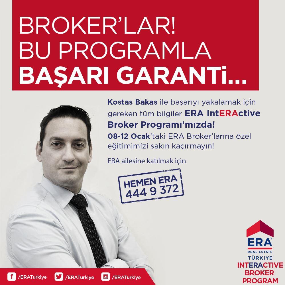 IntERActive Broker Programı, Kostas Bakas ile 08-12 Ocak tarihleri arasında ERA Gayrimenkul Akademisi'nde!