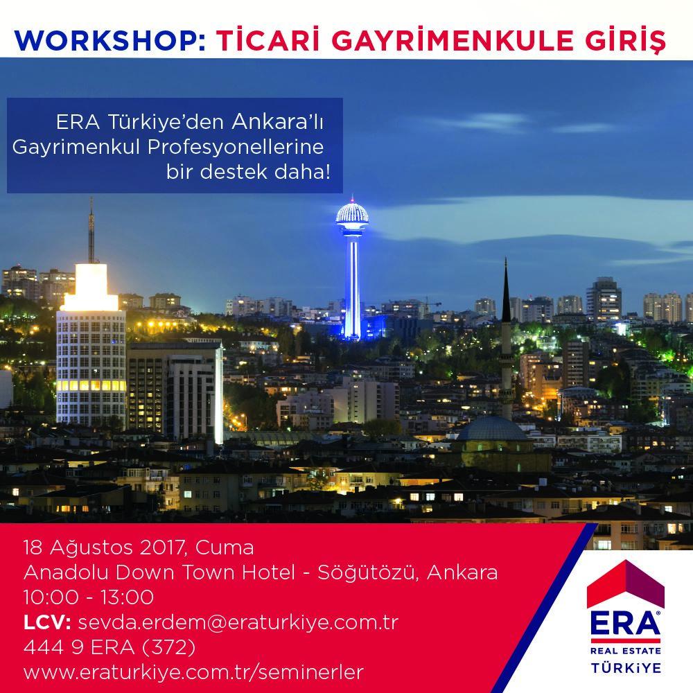 Ticari Gayrimenkule Giriş Workshop'u ile ERA, Ankara'da