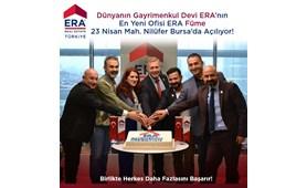 Dünyanın Gayrimenkul Devi ERA'nın En Yeni Ofisi ERA Füme Gayrimenkul 23 Nisan Mah. Nilüfer Bursa'da Açılıyor!