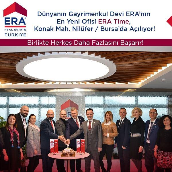 Dünyanın Gayrimenkul Devi ERA'nın En Yeni Ofisi ERA Time konak Mahallesi Nilüfer /BURSA 'da Çok Yakında Açılıyor!