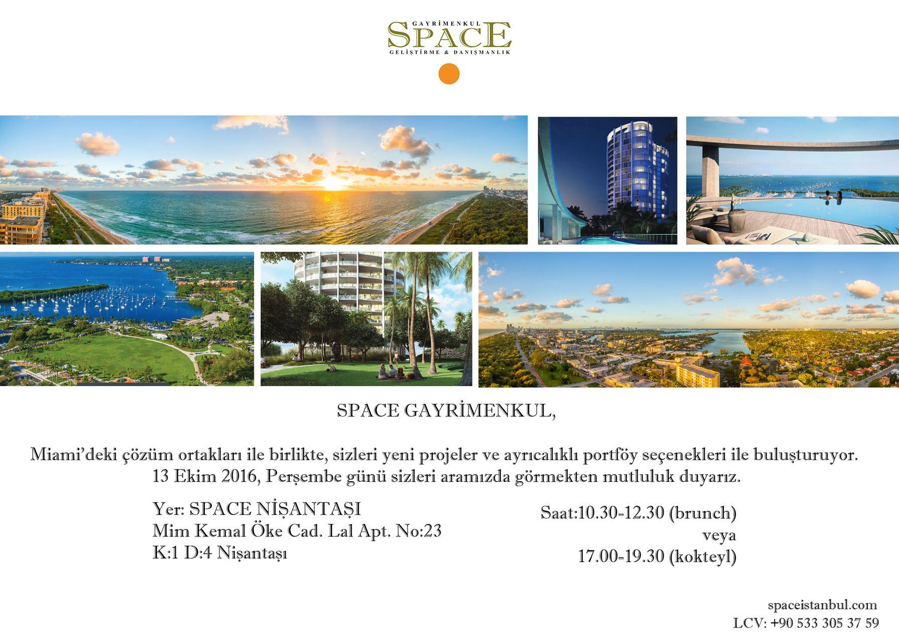 Space Gayrimenkul ve Miami'deki Çözüm Ortağı Vecchi Stoka Group Etkinliği