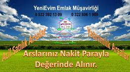 YeniEvim'den Şambayadı'nda Yatırımlık Geniş Yol Cephe Köşe Arsa.