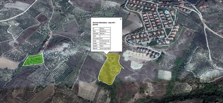 Mudanya Mürselde İmar Sınırı Yatırımlık Satılık 15.900 m2 Arazi.