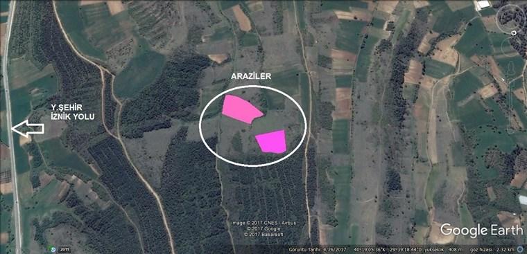 Bursa Yenişehir Afşar'da Yatırımlık Satılık Arazi 25000 m2