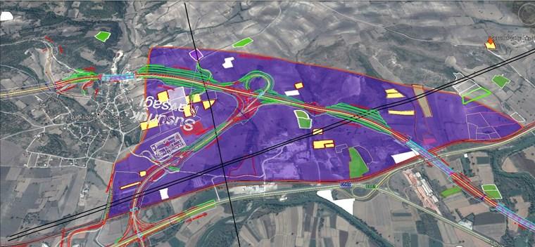 Susurluk Lojistik Planda Yahyaköy'de Satılık 24 Dönüm Arazi.